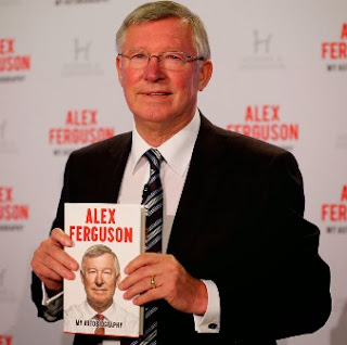 Alex Ferguson promoting his new book in London last week.