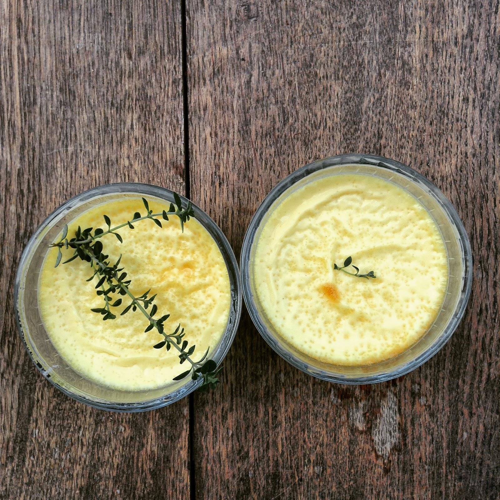 crème au thym citron et au miel
