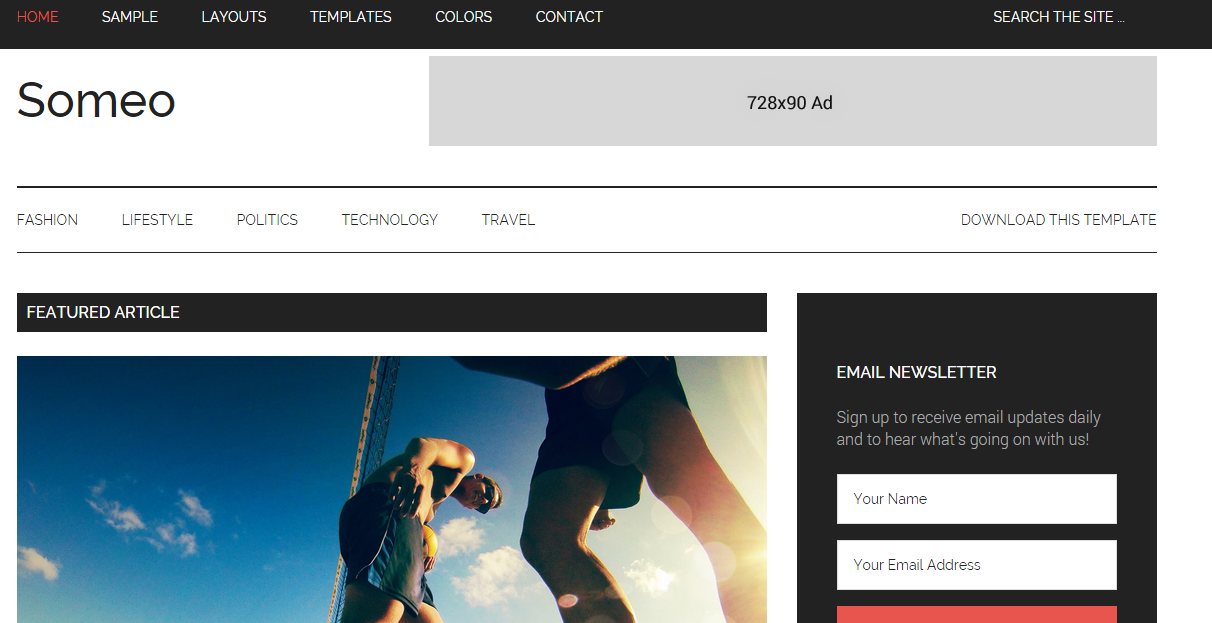 Download Someo Free Blogger Template