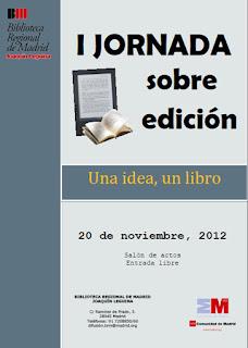 I jornadas sobre edición una idea, un libro