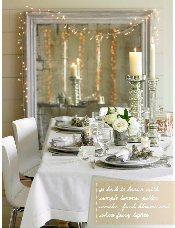 Haus design a white christmas for Xmas table design