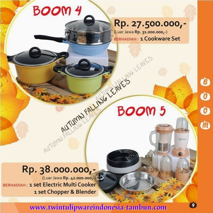 BOOM Twin Tulipware Tupperware September - Oktober 2014