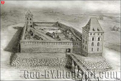 Замок в XIV веке. Реконструкция Сергея Прищепы