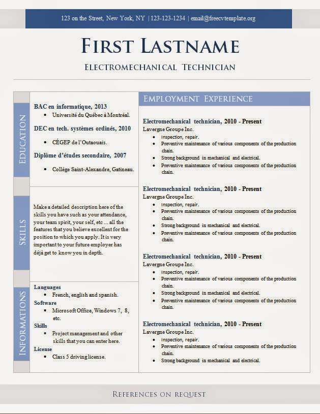 Resume Templates Word Free Download on Resume Templates Free Download