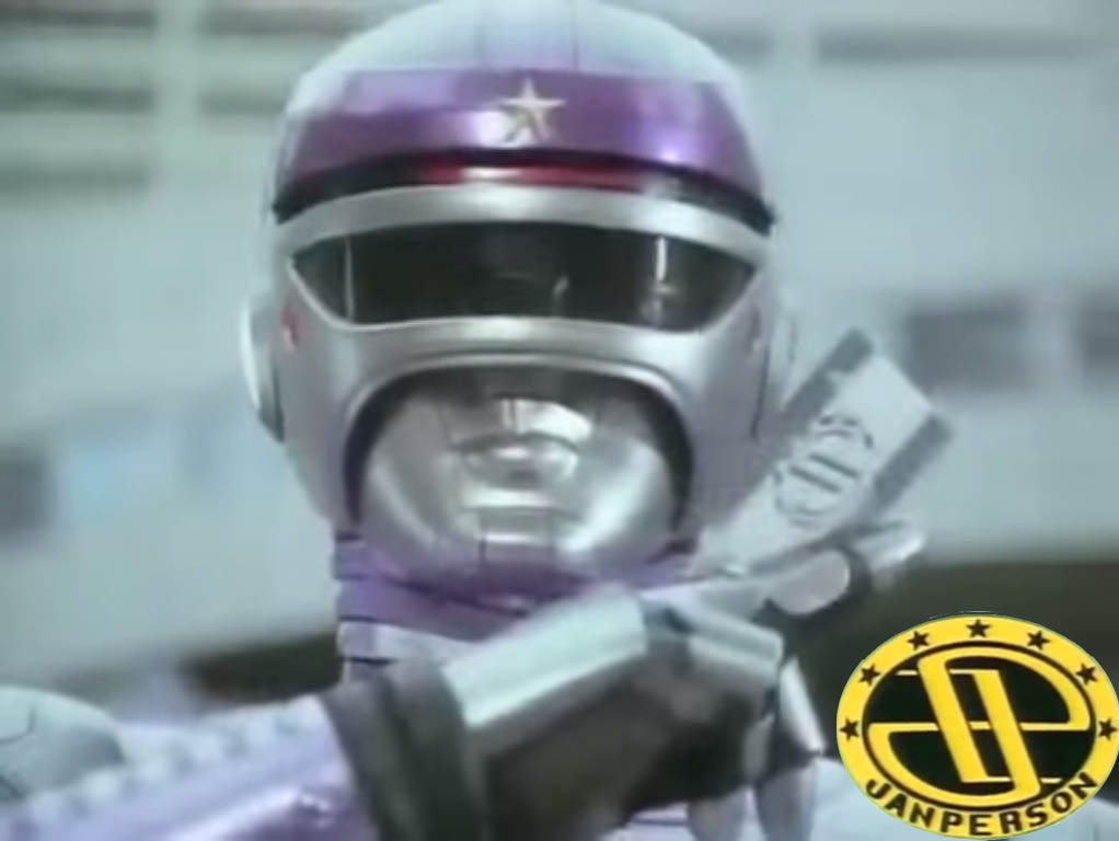 Tokusou Robo Janperson using Janperson Cards in Tagalized Metal Hero Series shown in the ABC-5 Philippines