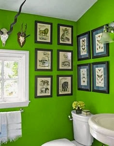 Beautiful Green Bathroom