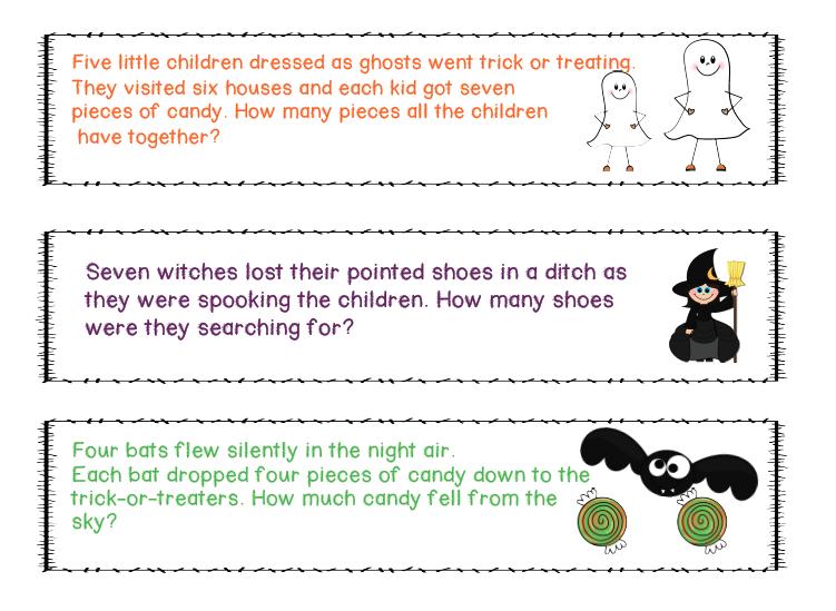 Halloween Word Problems Fourth Grade haunted places logic – Halloween Math Word Problems Worksheets
