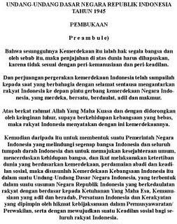 Undang-undang Dasar Negara Republik Indonesia Tahun 1945