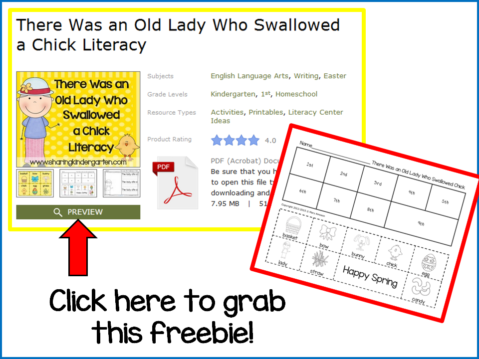 http://www.sharingkindergarten.com/2014/04/that-old-lady-swallowed-chick-and-made.html