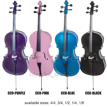 Metalic Type of Cecilio Violins Colorful
