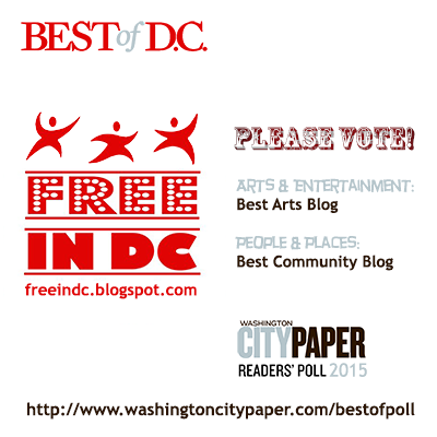 Vote for Free in DC in WCP's Best of DC 2015 Poll by Sunday, March 1st. Poll closes 11:59pm
