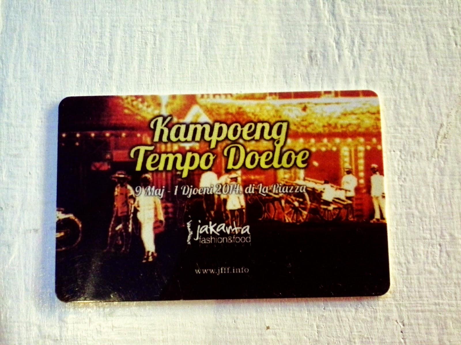 Nanad Land Kampoeng Tempo Doeloe Mall Kelapa Gading Iya Kan Bener Eh Tu Cuma Sampe 1 Juni Ya Acaranya Baru Ngeh Pas Liat Foto Kartu Depositnya D