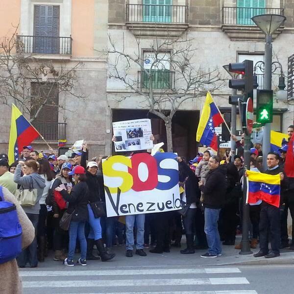 venezuela protesta 2014 venezolanos fuera de venezuela