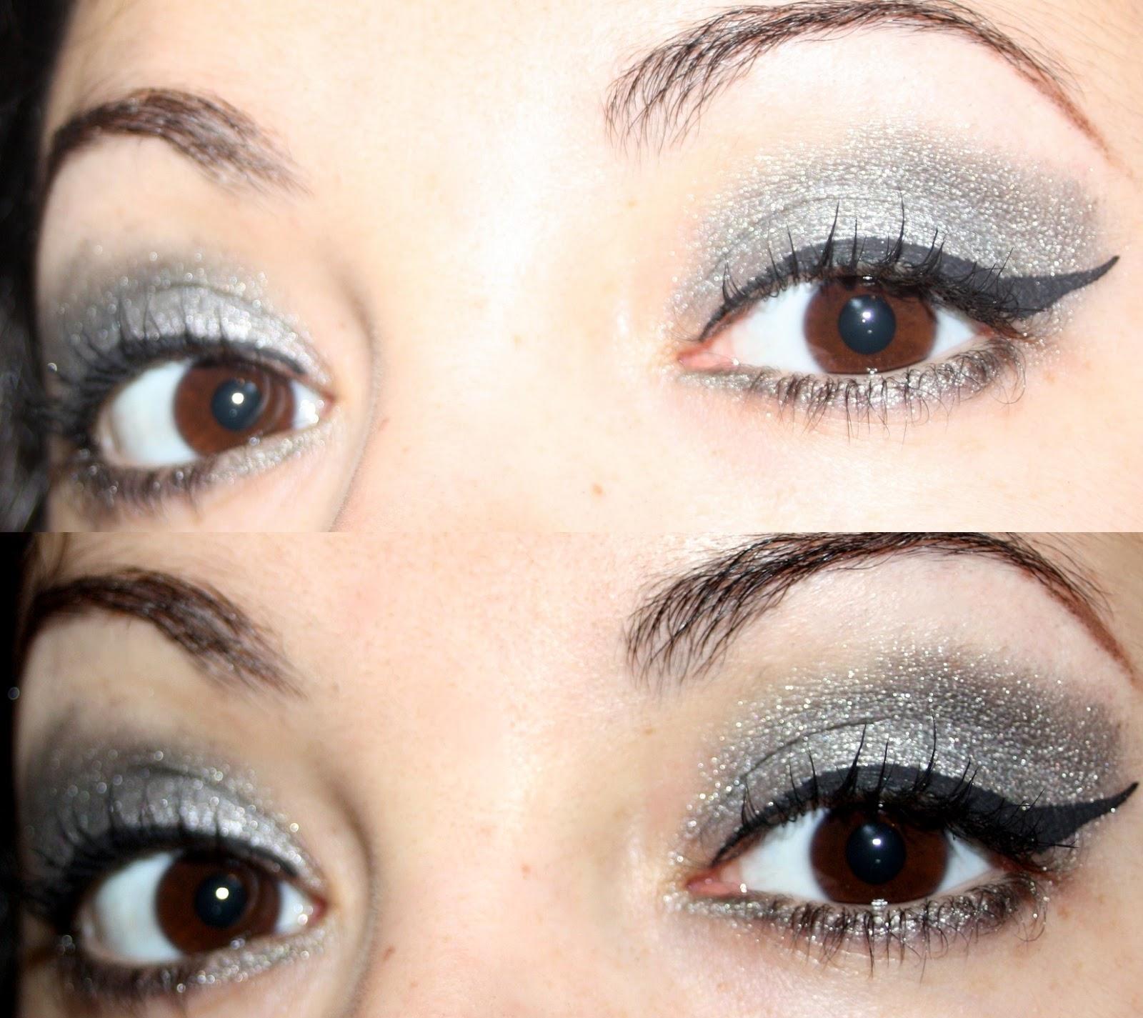 Make Up By Linoa Maquillage Gris Et Argent Avec Un Seul Fard