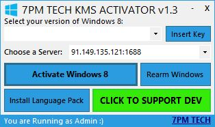 Activate Windows 8 Via KMS Working