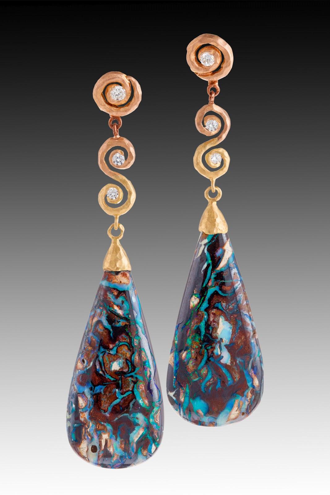 Pamela Froman Fine Jewelry Australian Yowah Boulder Opal