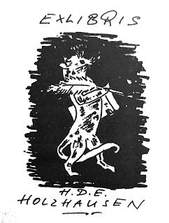 Exlibris für Hans-Dieter Holzhausen von Xago