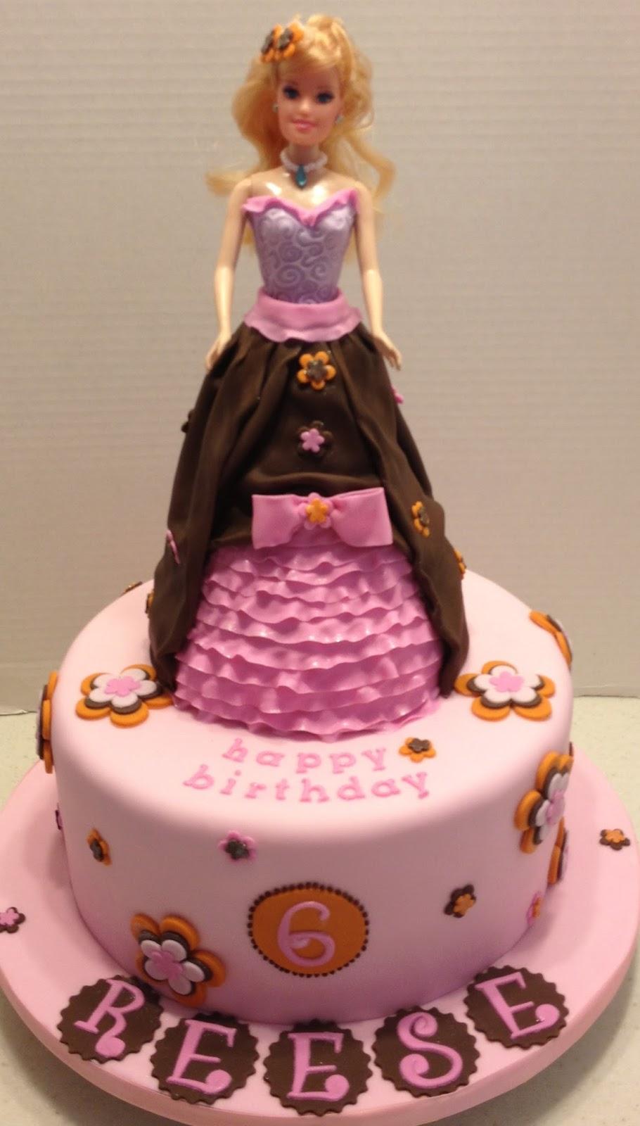 Barbie Chocolate Cake Images : MaryMel Cakes: A Barbie Birthday