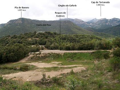 Les Roques de Codines i la Serra de Queralt