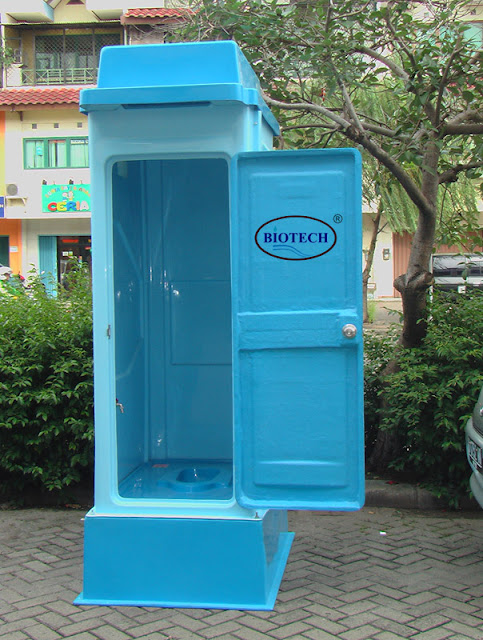 toilet portable fibreglass, flexible toilet frp, wc sementara, wc proyek, toilet darurat, toilet flexible, septic tank biotech