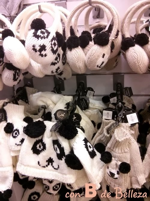 Gorro, guantes animales