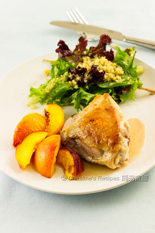烤焗蜜桃雞腿 Baked Chicken Thighs with Peaches01