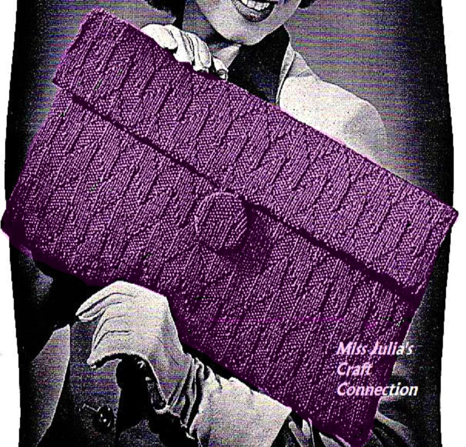 Miss julias patterns favorite bags to knit free patterns 1940s classically elegant clutch 259 knit bankloansurffo Gallery
