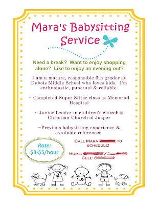 Scrap Happy!: Babysitting Flyer using MDS!