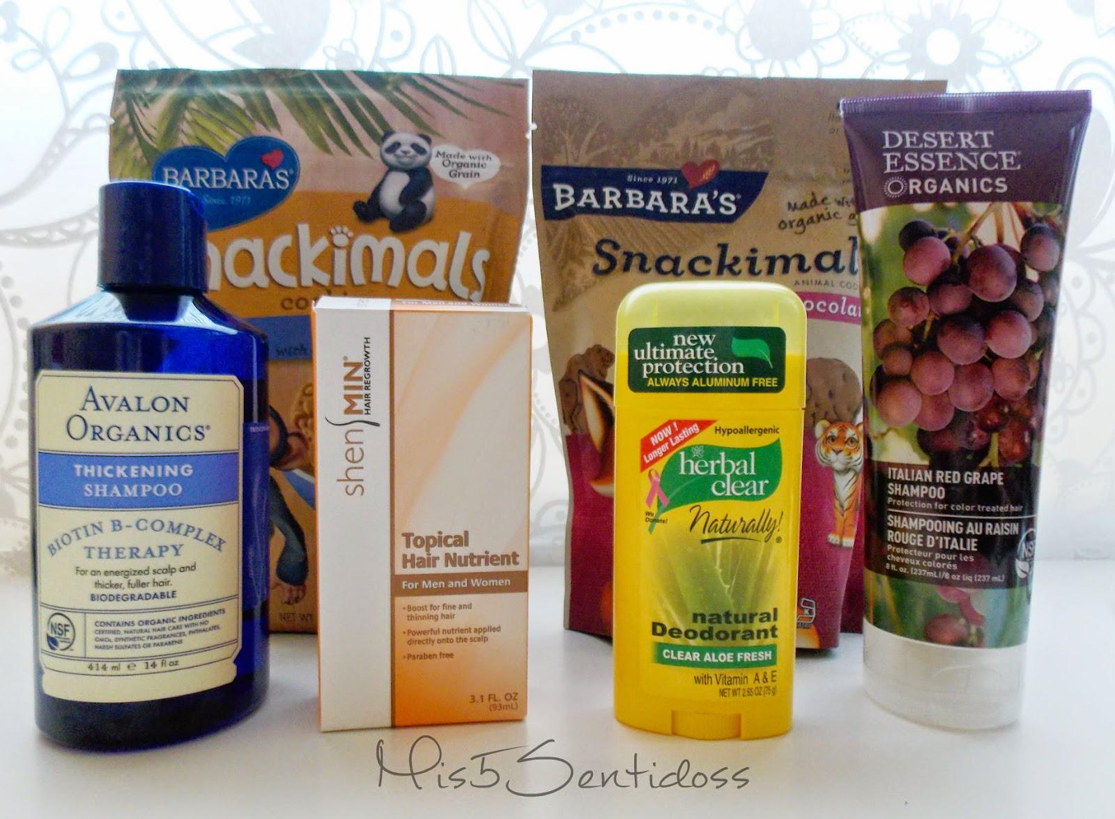 Pedido Iherb V: Productos para el cabello, Desodorante sin aluminio y galletas