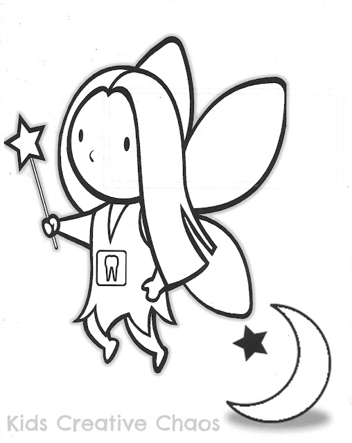 Cute Tooth Fairy Coloring Sheet Printable