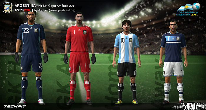 Argentina Copa America 2011 Kit Set by diNo