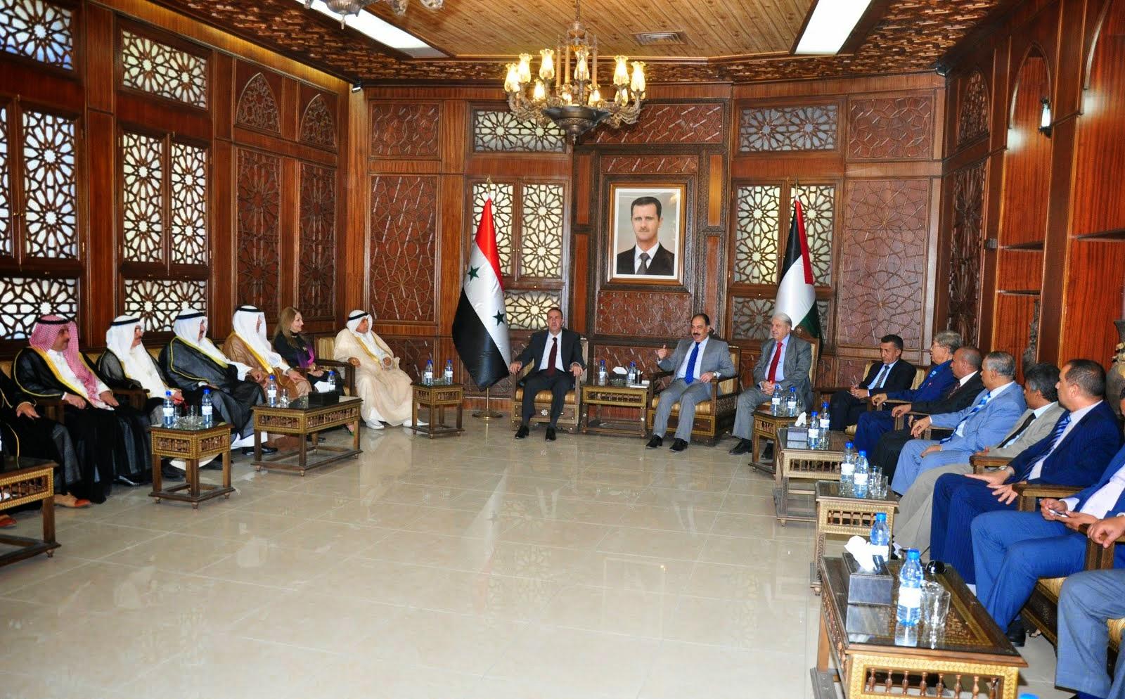 وفد الاحزاب والشخصيات العربية الذى يزور سورية