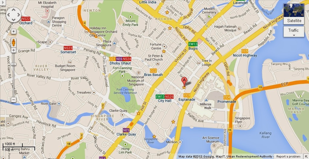 Detail Raffles Hotel Arcade Singapore Location Map – Tourist Map Of Singapore City