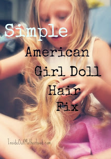 how to fix American girl doll hair