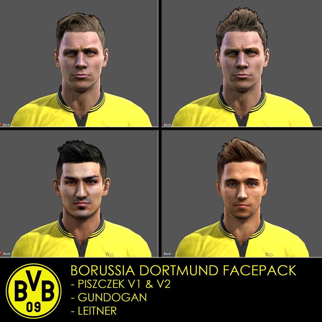 Borussia Dortmund Facepack PES 2013 by Izzi