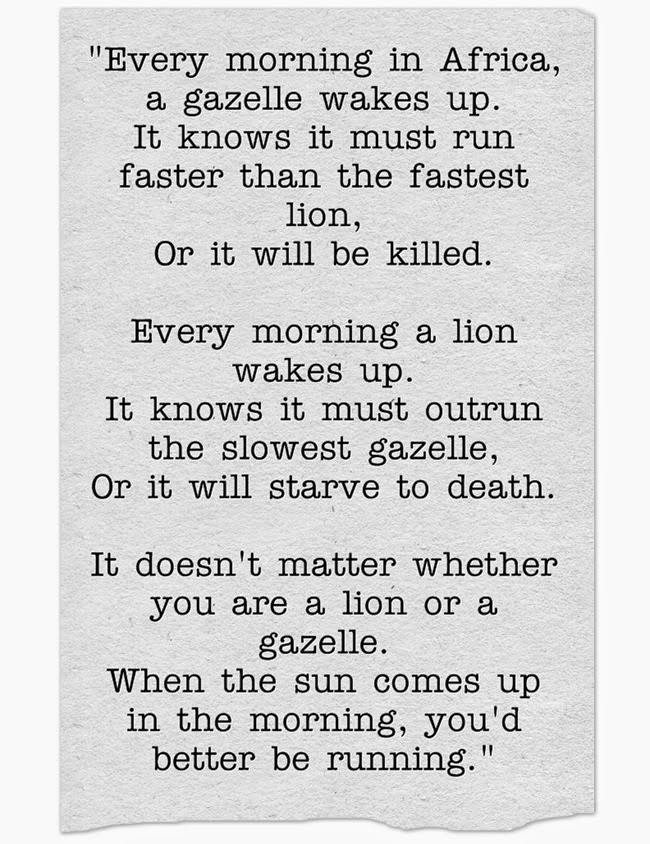 Sư tử hay linh dương đều phải chạy