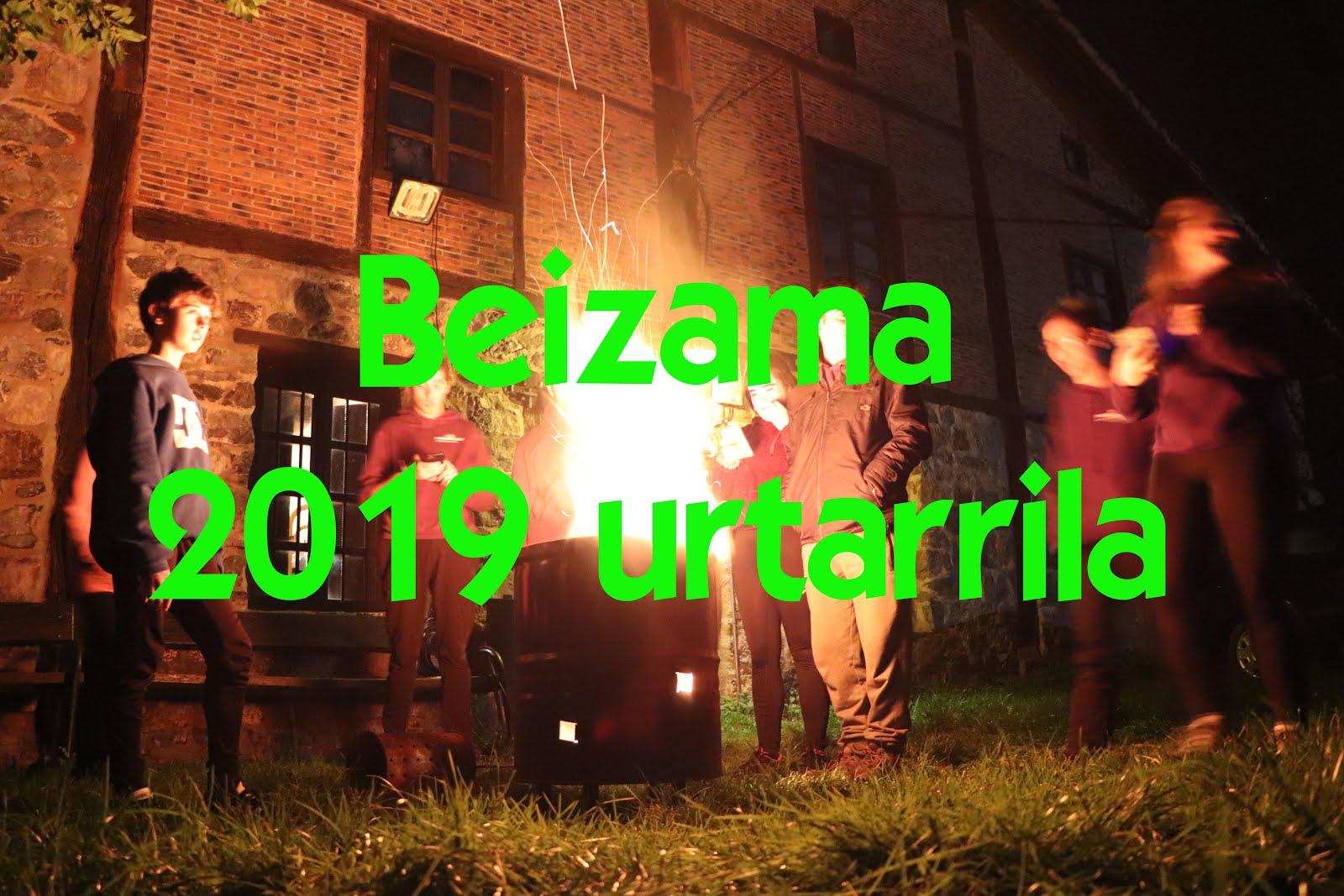 Beizama 2019 urtarrila