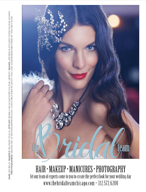 THE BRIDAL TEAM  ad styled by Jessica Moazami ran in the March issue of CS magazine