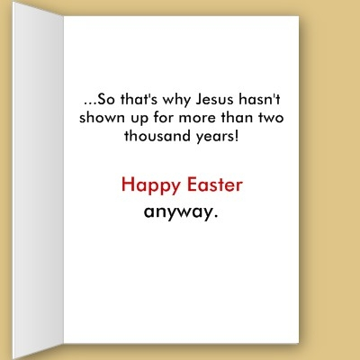 Arisotles muse a blog for thinkers awesome atheist easter cards click here to see card m4hsunfo