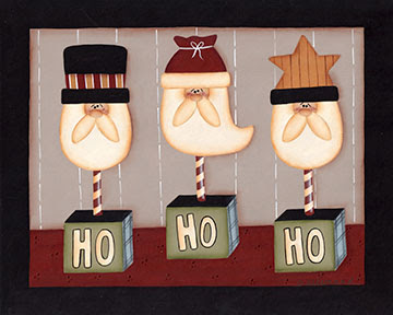 Ho Ho Ho Santas by Sue Allemand 2008, Sue Allemand Art Blog