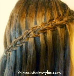 scissor waterfall braid using micros braids