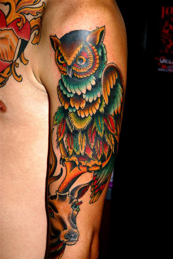 Owl tattoos3d tattoos for Owl tattoo designs