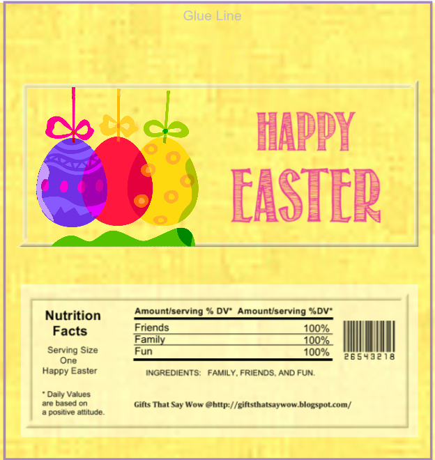Gifts that say wow fun crafts and gift ideas easter free printable easter candy wrapper negle Images