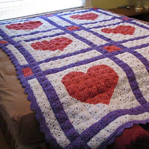 Love Letters Crochet Quilt