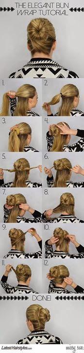 Hair Style Tutorial Step By Step.