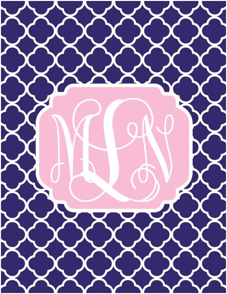 beautifully chaotic diy monogrammed phone wallpaper