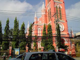Tan Dinh Rosa Igreja Católica. Ho Chi Minh. Vietnã