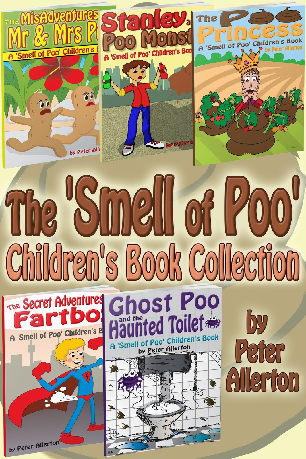 smell poo funny children's book print
