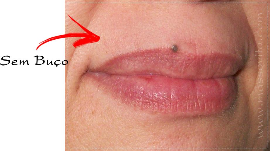Após uso do creme depilatório para buço