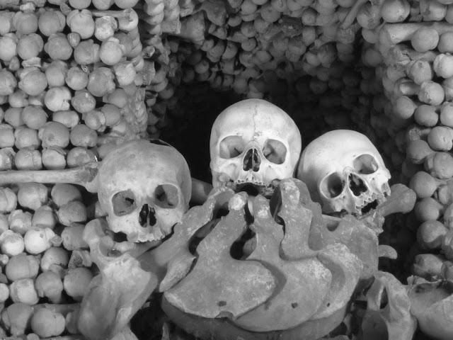 The bone church (ossuary) in Kutna Hora, Czech Republic.